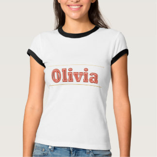 OLIVIA  Girl Name Text Shirts