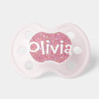 """Olivia"" Personalized Name Glitter Pacifier"