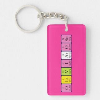 Olivia-Rose periodic table name keyring