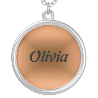 Olivia Round Pendant Necklace