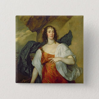 Olivia, Wife of Endymion Porter, c.1637 15 Cm Square Badge