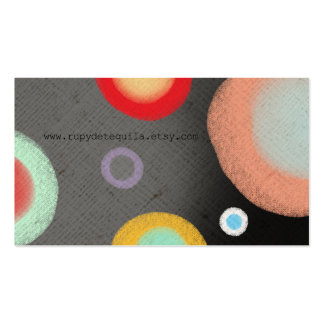 Ölkreide Circles Abstract Watercolor Art Pack Of Standard Business Cards