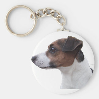 Ollie the Jack Russell Basic Round Button Key Ring