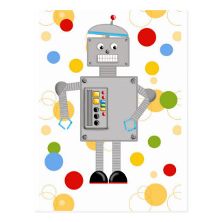 Ollie The Robot Postcard