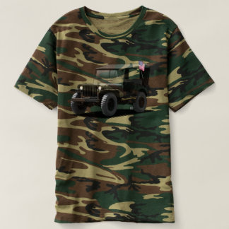 OlllllllO camouflage vintage military 4x4 t-shirt