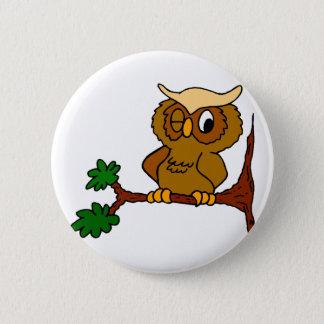 Olly Owl 6 Cm Round Badge
