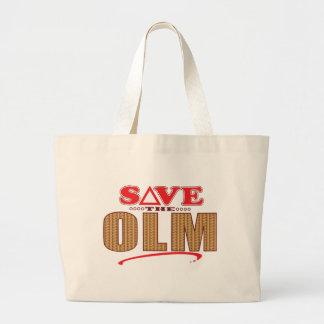 Olm Save Large Tote Bag