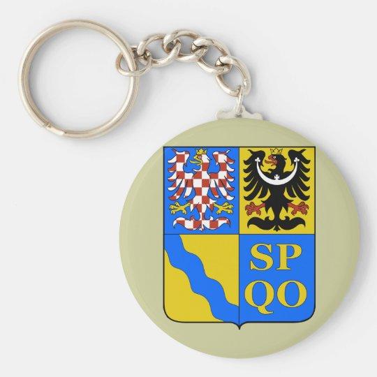 Olomouc Region, Czech Basic Round Button Key Ring