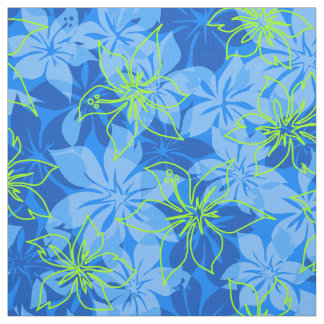Olowalu Hibiscus Hawaiian Camo Aloha Shirt Print Fabric