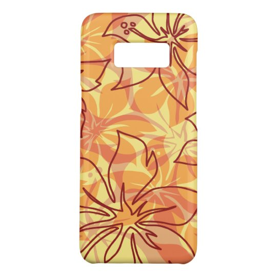 Olowalu Hibiscus Hawaiian Camo Papaya Case-Mate Samsung Galaxy S8 Case