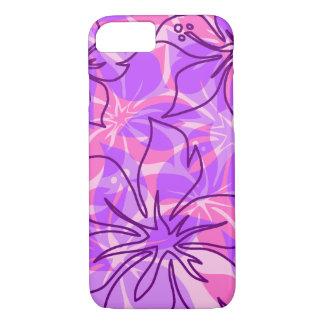 Olowalu Hibiscus Hawaiian Camo Violet iPhone 8/7 Case