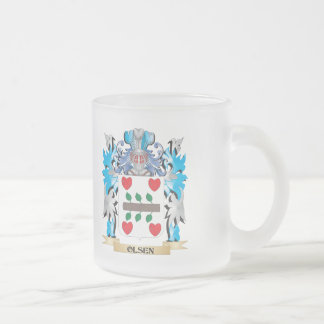 Olsen Coat of Arms - Family Crest 10 Oz Frosted Glass Coffee Mug