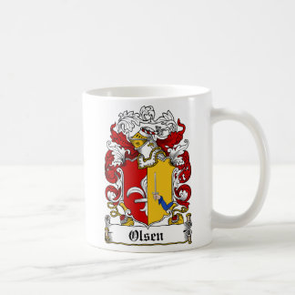 Olsen Family Crest Basic White Mug