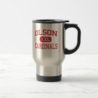 Olson - Cardinals - Middle - Woodstock Illinois Stainless Steel Travel Mug