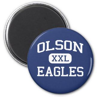 Olson Eagles Middle School Mauston Wisconsin Fridge Magnet
