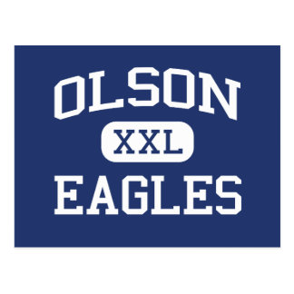 Olson Eagles Middle School Mauston Wisconsin Postcard