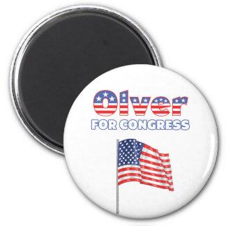 Olver for Congress Patriotic American Flag 6 Cm Round Magnet