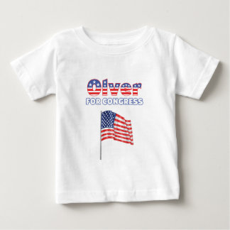 Olver for Congress Patriotic American Flag Baby T-Shirt