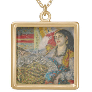 Olympia, 1863 (oil on canvas) necklace