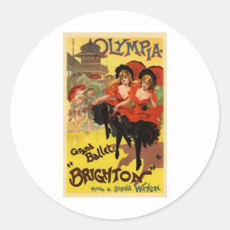 Olympia Grand Ballet Brighton Round Sticker