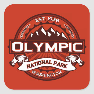 Olympic Crimson Square Sticker