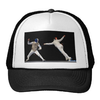 Olympic Fencing Lunge and Parry Trucker Hat