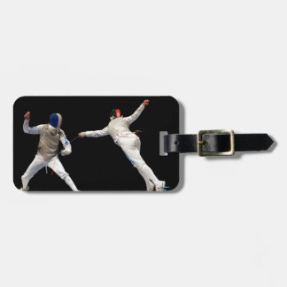 Olympic Fencing Lunge and Parry Luggage Tag