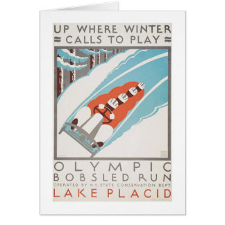 Olympic Fun Lake Placid 1936 WPA Card
