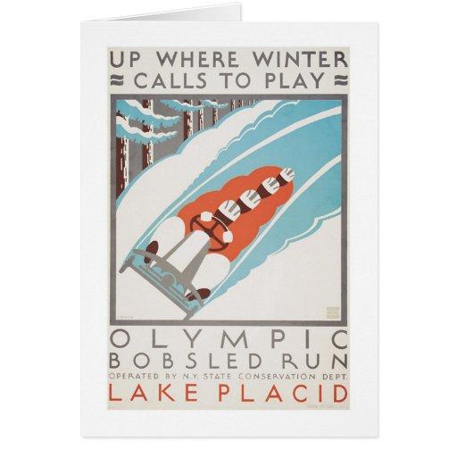 Olympic Fun Lake Placid 1936 WPA Cards