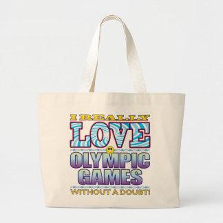 Olympic Games Love Face Jumbo Tote Bag