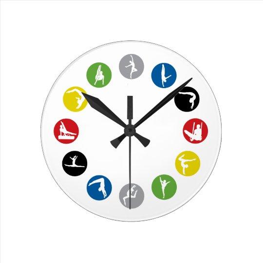 Olympic Gymnastics Wall Clock