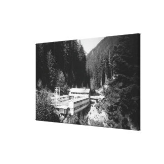 Olympic Hot Springs, WA Lodge View Photograph #2 Canvas Print