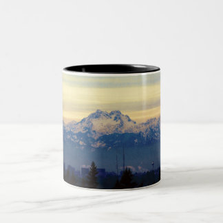 Olympic Mountains from Sammamish Two-Tone Coffee Mug