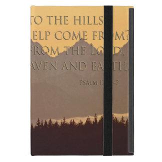 olympic mountains w/ psalm 121:1-2 ipad mini cover