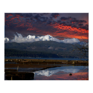 OLYMPIC MTS AND HOOD CANAL POSTER