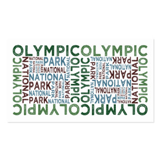 Olympic National Park Business Card Template
