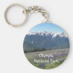 Olympic National Park Metal Basic Round Button Key Ring