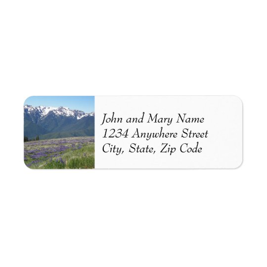 Olympic National Park Photo Return Address Labels