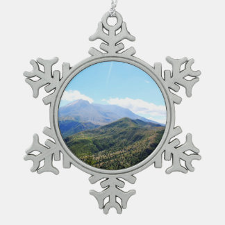 Olympic National Park, Seattle, U.S.A. Snowflake Pewter Christmas Ornament