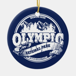 Olympic Old Circle Blue Christmas Ornament