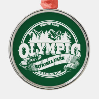 Olympic Old Circle Green Silver-Colored Round Decoration