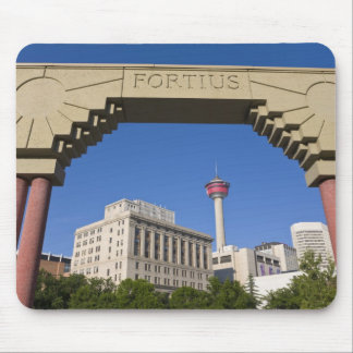 Olympic Plaza and Calgary Tower, Alberta, Canada Mouse Pad
