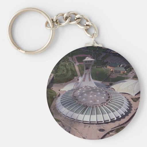 Olympic Stadium, Montreal, Quebec, Canada Basic Round Button Key Ring