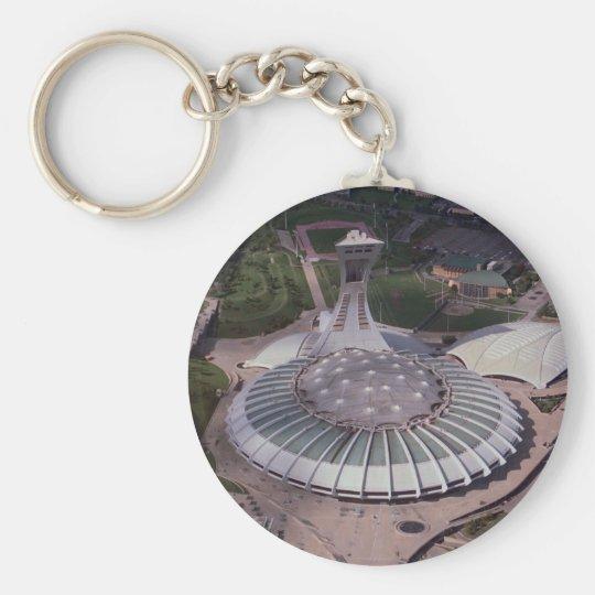 Olympic Stadium, Montreal, Quebec, Canada Basic Round Button Key Ring