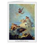 Olympus By Tiepolo Giovanni Battista Greeting Card