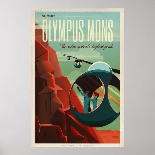 Olympus Mons, Mars Travel Poster