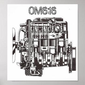 OM616 Mercedes Poster