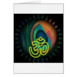 Om 3 greeting card