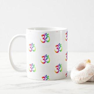 Om 90s ombre namaste meditation symbol pattern mug