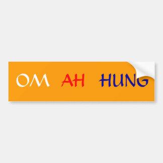 OM AH HUM - CAR BUMPER STICKER